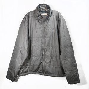 Columbia Gray Puffer Jacket Long Sleeve Mens Sz XL
